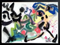Malerei, Abstrakt, Nashorn