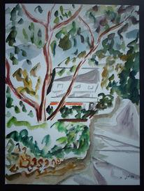 Malerei, Abstrakt, See