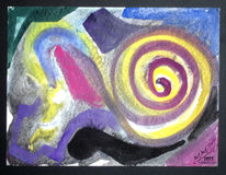 Menschheit, Abstrakt, Malerei, Uralt