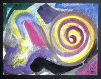 Uralt, Malerei, Symbol, Spirale