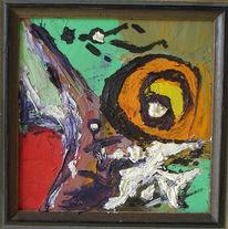 Abstrakt, Befreiungsschlag, Malerei, Unglücklichen