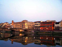 Brücke, Stadt, Häuser, Florenz