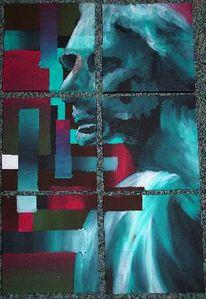 Abstrakt, Malerei, Rodin, Bürger
