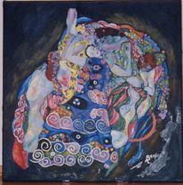 Hommage, Klimt, Malerei, Jungfrau