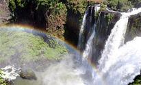 Reiseimpressionen, Wasserfall, Regenbogen, Fotografie