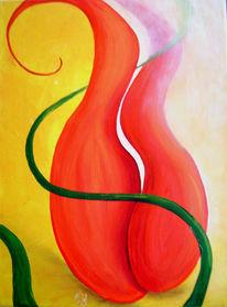 Licht, Malerei, Band, Rot
