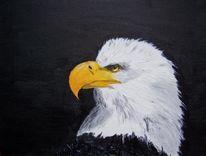 Figural, Malerei, Ölmalerei, Adler