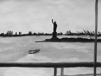 Amerika, Landschaft, Malerei, Usa