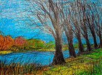 Skizze, Malerei, Landschaft