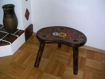 Holz, Hocker, Malen, Kunsthandwerk