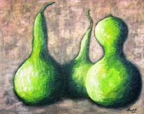 Kalebasse, Grün, Malerei