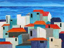 Häuser, Landschaft, Maritim, Meer