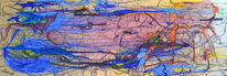 Malerei, Heiliges feuer, Abstrakt, Acrylmalerei