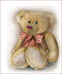 Polychromos, Zeichnung, Teddy, Zeichnungen