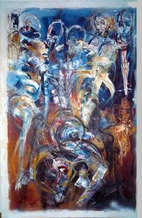 Abstrakt, Malerei, Verzweiflung