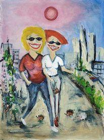 Acrylmalerei, Albino, Igel, Malerei