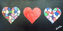 Herz, Herzen, Malerei