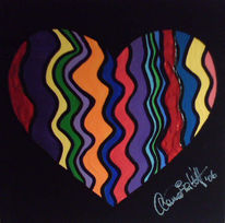 Herz, Welle, Malerei