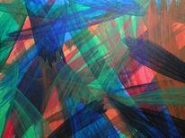 Acrylmalerei, Lasurtechnik, Abstrakt, Malerei
