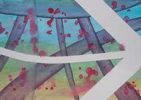 Malerei, Unterwandern, Isolierband, Abstrakt