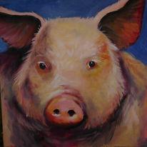 Tiere, Vieh, Figural, Malerei