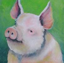 Schwein, Figural, Tiere, Malerei