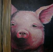 Malerei, Tiere, Figural, Schwein