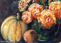 Blumen, Malerei, Stillleben, Herbst