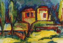 Toskana, Malerei, Süden, Landschaft
