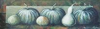 Malerei, Früchte, Gemüse, Kürbisse