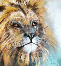 Steppe, Afrika, Löwe, König