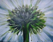 Margerite, Blumen, Malerei, Pflanzen