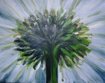Margerite, Blumen, Malerei, Flora