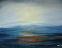 Tal, Malerei, Morgen, Sonnenaufgang