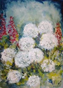 Figural, Wiese, Pusteblumen, Flora