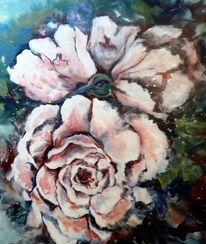 Pflanzen, Rose, Blumen, Malerei