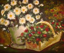 Natur, Blumen, Vase, Stillleben