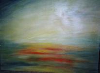 Abend, Malerei, Sommer, Dämmerung