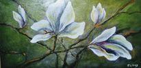 Malerei, Baum, Flora, Blüte