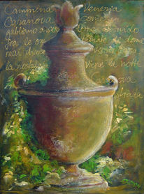Tonvase, Terra, Garten, Malerei