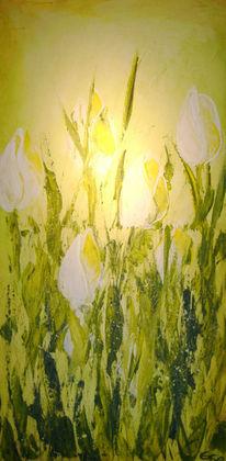Abstrakt, Malerei, Tulpen