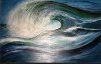 Welle, Wasser, Malerei, Landschaft