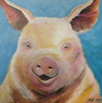 Figural, Schwein, Portrait, Tiere