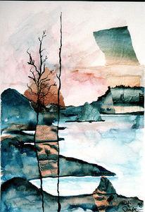 Wasser, Malerei, Landschaft, Surreal