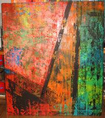 Spuren, Überleben, 140x120cm, Torso