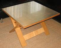 Möbel, Edelstahl, Tisch, Design