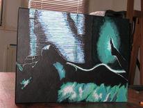 Kletterpflanze, Kobold, Malerei, Nacht