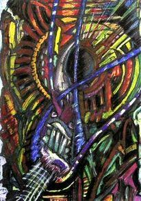Abstrakt, Leben, Malerei, Tod