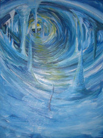 Malerei, Abstrakt, Eishöhle