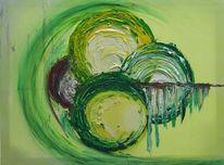 Abstrakt, Malerei, Frust